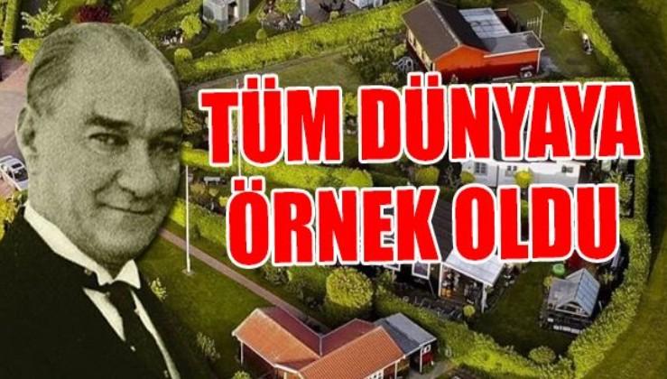 Atatürk'ün hazırladığı İdeal Cumhuriyet Köyü projesi Danimarka'da uygulandı