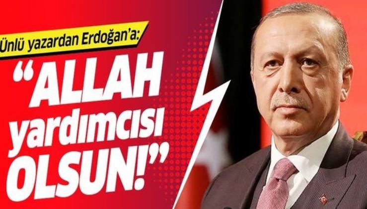 """Alev Alatlı: """"Allah başta Erdoğan'ın olmak üzere hepimizin yardımcısı olsun""""."""