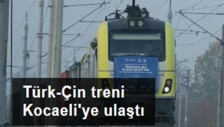 İşlemleri tamamlandı. Türkiye'den Çin'e gidecek ilk blok ihracat treni Kocaeli'ye ulaştı