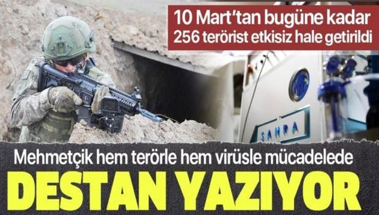 Mehmetçik'ten hem terörle hem de Kovid-19'la mücadele: 10 Mart'tan bugüne ise 256 PKK/YPG'li etkisiz hale getirdi