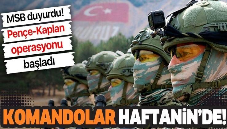 Son dakika: Milli Savunma Bakanlığı açıkladı: Kahraman komandolarımız Haftanin'de