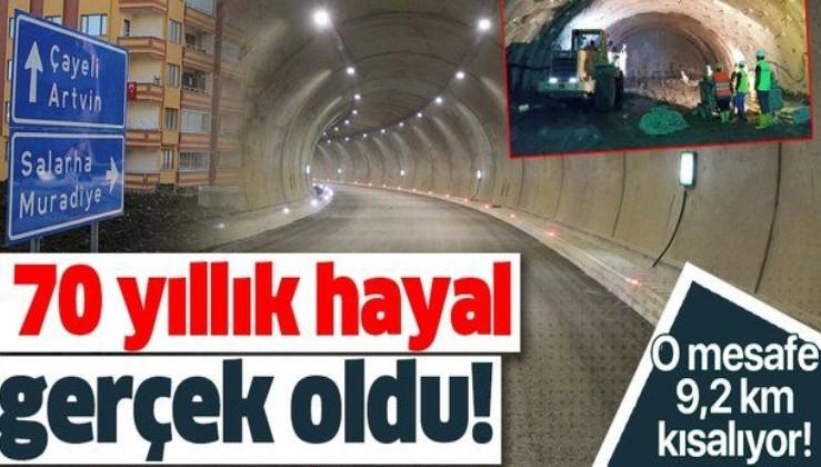 70 yıllık hayal gerçek oldu! 2.9 kilometrelik çift tüplü Salarha Tüneli'nin bir tüpü tamamlandı