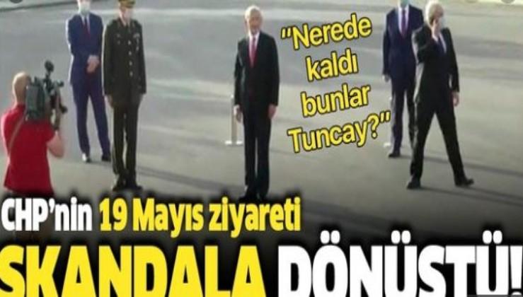 CHP'nin '19 Mayıs' ziyareti skandala dönüştü: Kılıçdaroğlu dakikalarca ayakta bekledi
