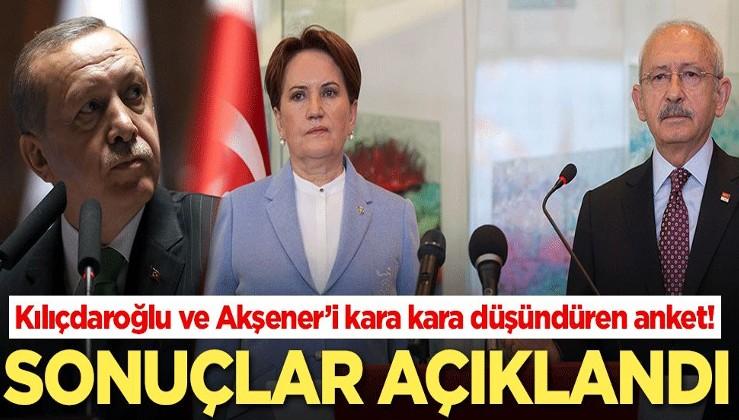Kılıçdaroğlu ve Akşener kara kara düşündüren anket! Sonuçlar açıklandı