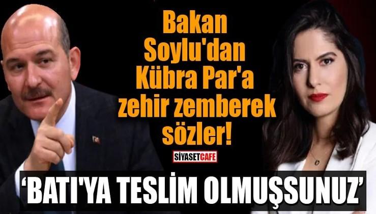 Bakan Soylu'dan HaberAmerikan yazarı Kübra Par'a sert tepki!