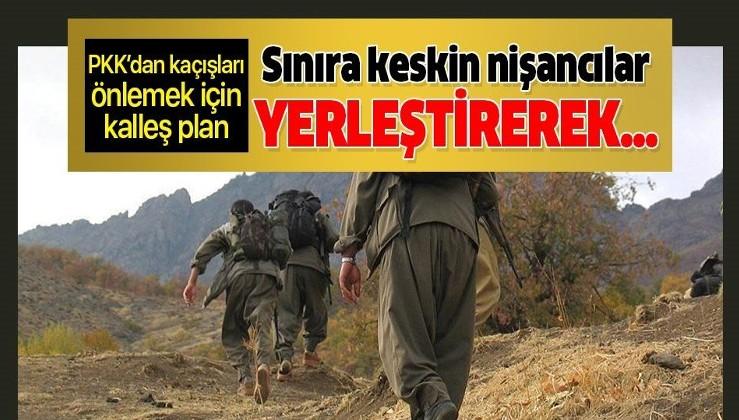 PKK'dan kaçışları engellemek için kalleş plan! Türkiye sınırına keskin nişancı yerleştirerek... .