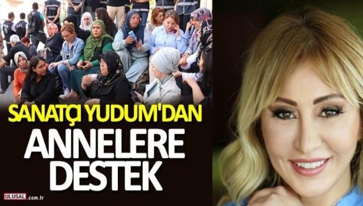 Sanatçı Yudum'dan Diyarbakır'da oturma eylemi yapan annelere destek