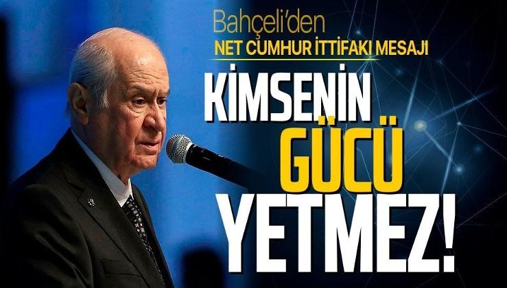Son dakika: MHP Lideri Devlet Bahçeli'den Cumhur İttifakı açıklaması