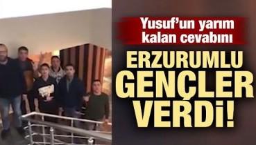 Erzurumlu Tiyatrocular Bayburtlu Yusuf'a Böyle Destek Verdi