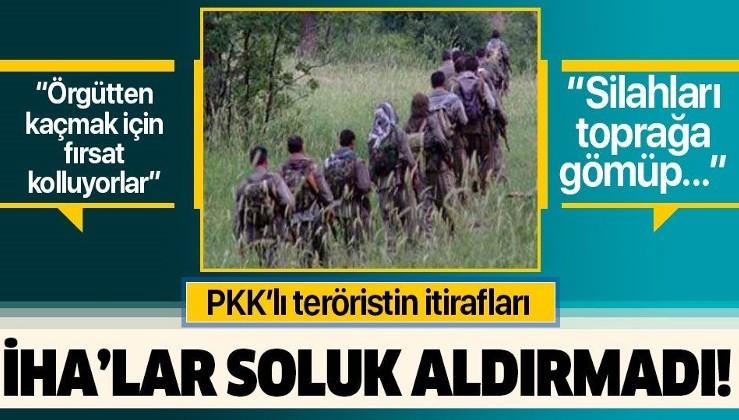 Yakalanan PKK'lı terörist itiraf etti: Köşeye sıkışan örgüt mensupları kaçmak için fırsat kolluyor