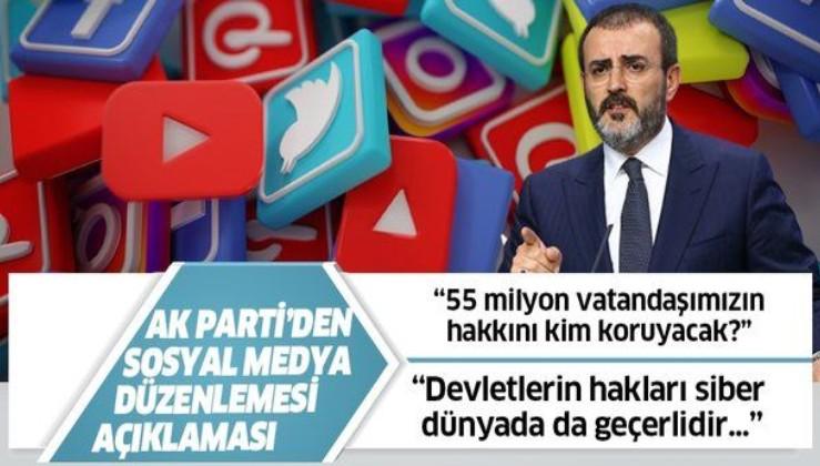 AK Partili Mahir Ünal'dan sosyal medya düzenlemesi ile ilgili açıklama geldi!