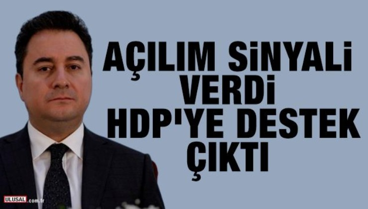 Ali Babacan'dan AÇILIM mesajı!