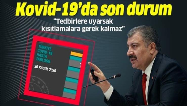 Son dakika: Sağlık Bakanı Fahrettin Koca 26 Kasım koronavirüs sayılarını açıkladı | Koronavirüste son durum