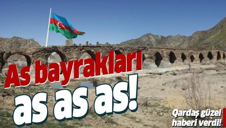 Son dakika: Azerbaycan Cumhurbaşkanı İlham Aliyev: Tarihi Hudaferin Köprüsü'ne Azerbaycan bayrağı dikildi