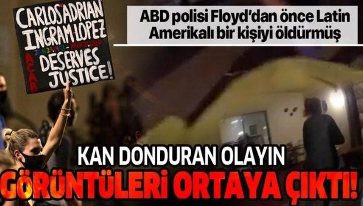 Son dakika: Kan donduran görüntüler: ABD polisi Floyd'dan önce Latin Amerikalı bir kişiyi öldürmüş!