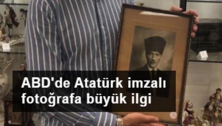 ABD'deki müzayedede Atatürk imzalı fotoğrafa büyük ilgi