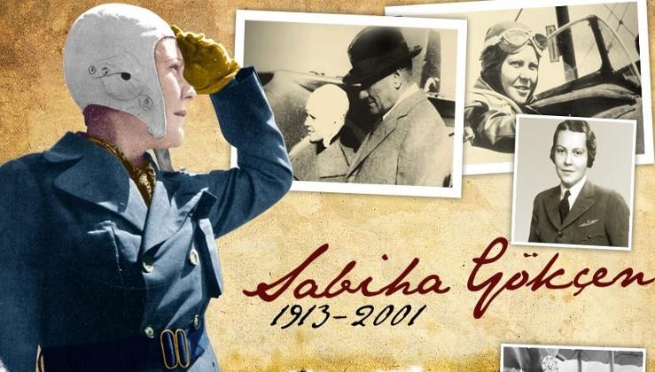 Türkiye'nin ve dünyanın ilk kadın savaş pilotu, Atatürk'ün manevi kızı Sabiha Gökçen'i, vefatının 20. yılında saygıyla anıyoruz.
