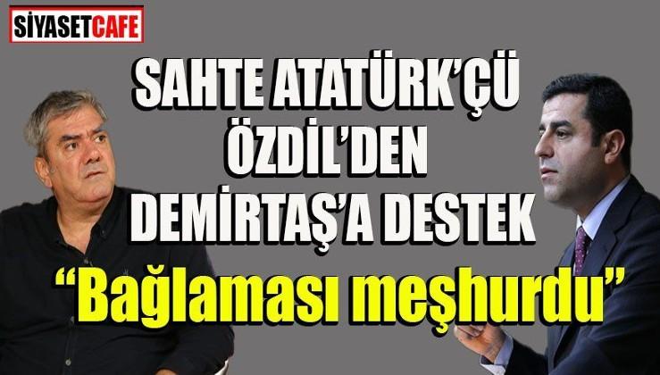 Yılmaz Özdil'den PKK'lı Demirtaş'a destek