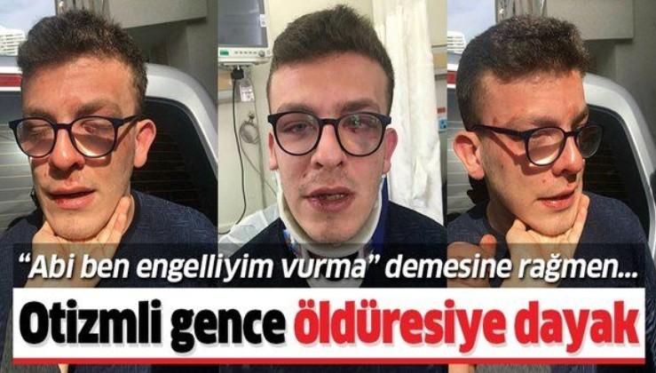 Avcılar'da skandal olay! Taha Alper Behrem isimli otizmli genci öldüresiye dövdü.