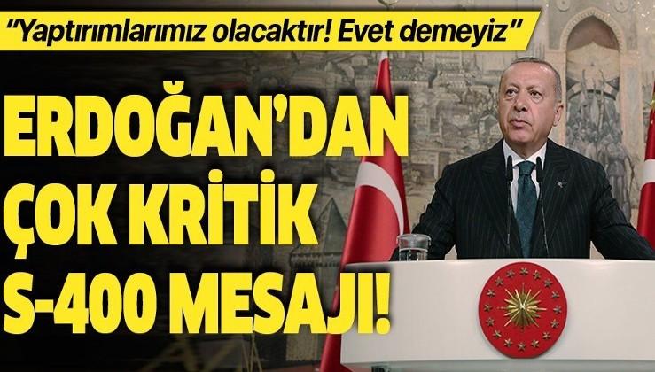 Erdoğan: ABD yaptırım uygularsa karşılık veririz