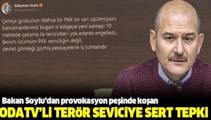 Son dakika: İçişleri Bakanı Süleyman Soylu'dan OdaTV çalışanı Müyesser Yıldız'a sert tepki