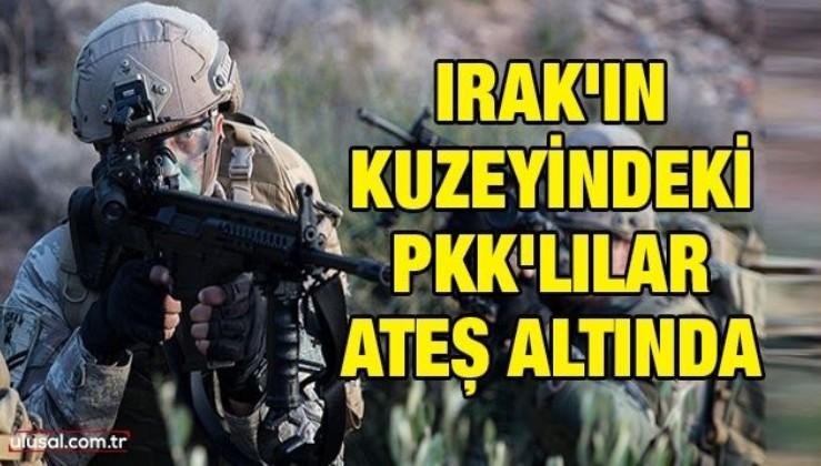 Irak'ın kuzeyindeki PKK'lılar ateş altında