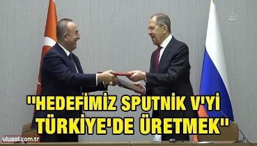 Çavuşoğlu ve Lavrov'dan koronavirüs aşısı açıklaması: ''Hedefimiz Sputnik V'yi Türkiye'de üretmek''