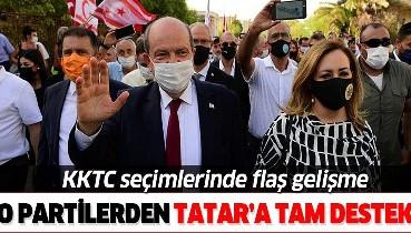 KKTC'deki Cumhurbaşkanlığı seçimlerinin ikinci turunda o partilerden Ersin Tatar'a tam destek!