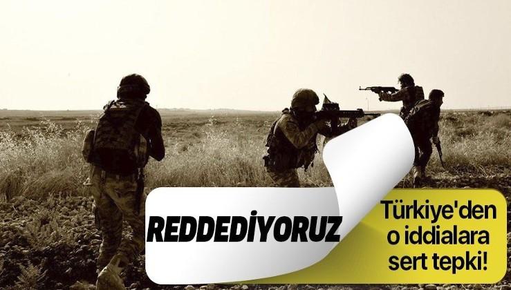 Son dakika: Türkiye'nin kimyasal silah kullandığı yönündeki iddialara sert tepki: Reddediyoruz.