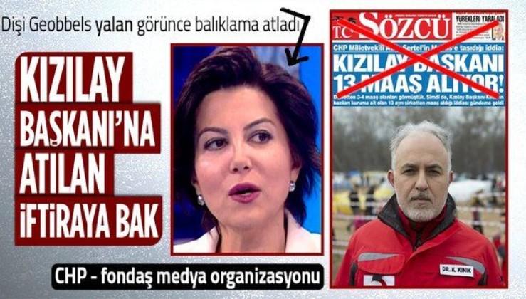Sözcü, Kızılay Başkanı Kerem Kınık hakkındaki asılsız iddiayı kesinmiş gibi manşetine taşıdı! Kabaş fırsatı kaçırmadı