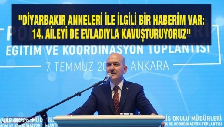 """Süleyman Soylu: """"Diyarbakır'da 14. aileyi de evladıyla kavuşturuyoruz"""""""