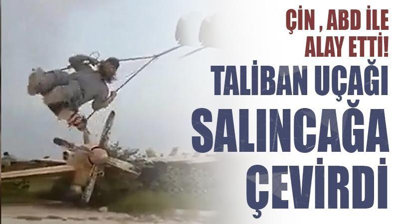 Çin, ABD ile alay etti: Taliban uçaklarınızı salıncağa çevirdi