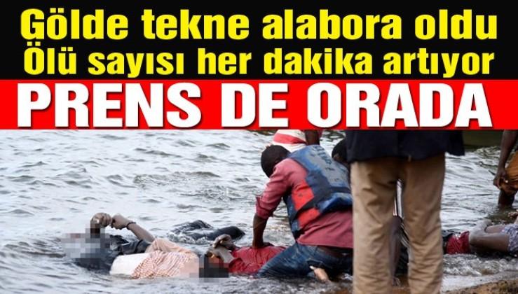 Görüntüler korkunç: Gölde tekne battı, en az 10 ölü var