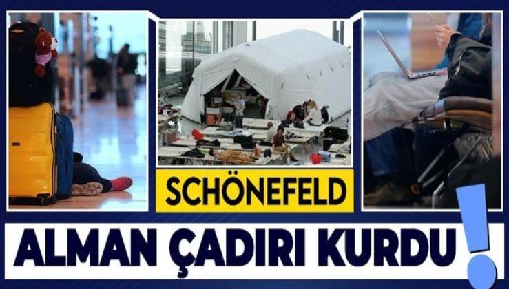 İngiltere'den Berlin'e gelen yolcular Schönefeld havaalanında mahsur kaldı!