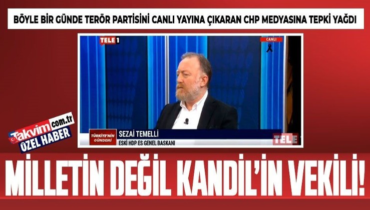 Şehitler verdiğimiz gün TELE1'de HDP'li vekilden PKK propagandası