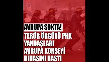 Terör örgütü PKK yandaşları Avrupa Konseyi binasını bastı