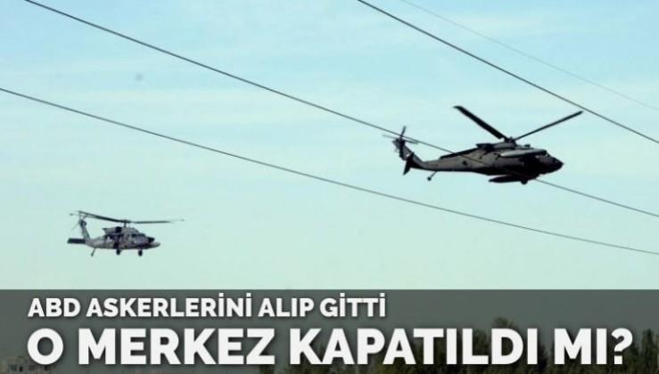 ABD askerleri helikopterle topukladı… Müşterek Harekat Merkezi kapatıldı mı?