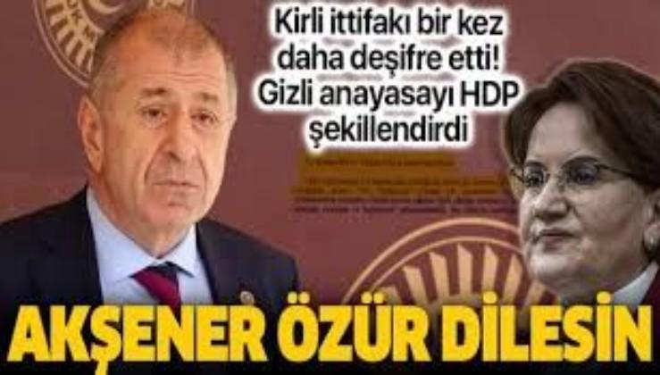 İYİ Parti'den ihraç edilen Ümit Özdağ: Meral Akşener Türk halkından özür dilesin